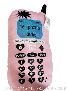 New With Tags Plush Cell Phone/Radio For Child