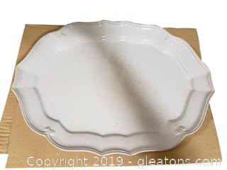 "New In Box ""Pinzon"" Glass Platter"