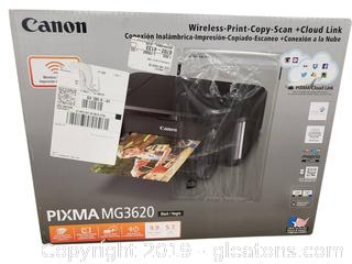 "Canon Wireless - Print-Copy - Scan - Cloud Link Pixma MG3620 ""New In Box"""