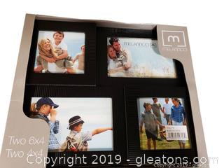 New In Box (2) 6x4 And (2) 4x6 Photo Collage Frame