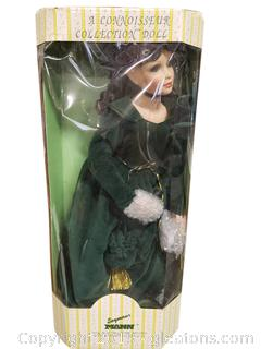 (Seymour Mann) collectible Porcelain Doll With Stand