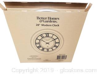 "Better Home + Gardens New In Box 28"" Modern Wall Clock"