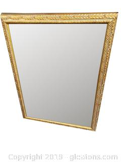 Decorative Gold Frame/Velvet Backing Wall Mirror