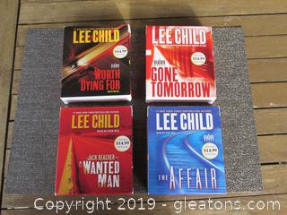 Lee Child 4 Audio CD Boxes Jack Reacher  / Gone Tomorrow / Worth Dying For / The Affair / A Wanted Man