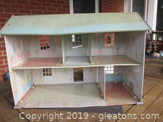 Tin Lithograph Doll House