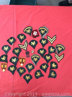 Military patches two pins