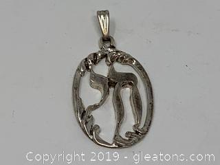 Sterling Hebrew Pendant