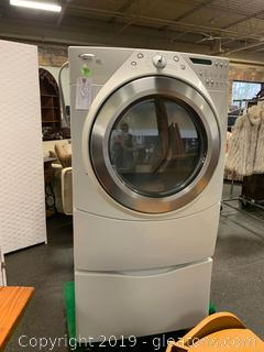 Whirlpool Duet Steam Dryer LIKE NEW with PEDESTAL