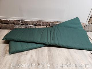 (2) Outdoor Cushions 56""