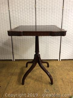 Valuable Leather Top Table With Beautiful Detail