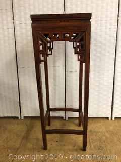 Asian Style Marble Top Occasional Table