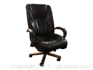 Leather Executive Office Chair Adjustable Seat