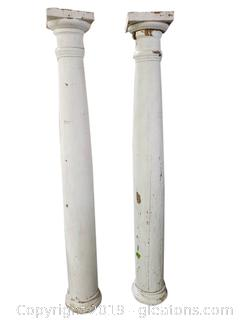 Tall Antique Architectural Columns from an Estate in upstate New York
