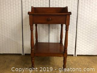 Vintage Wash Stand Table, Solid Oak