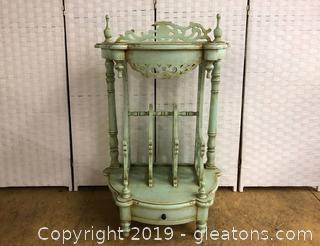 French Wash Stand With Corbel Detail Very Unusual in pastel Green