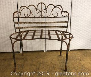 Victorian Iron Outdoor Settee