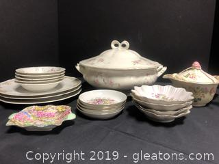 Lot Of China Shabby Chic Roses And pink Flowers