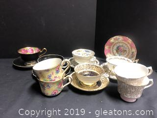 Lot Of Tea Cups Iron England