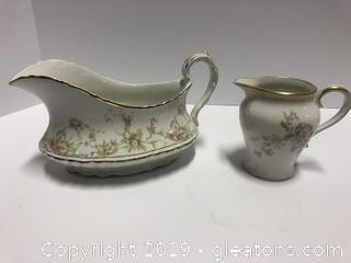 Gravy Bowl And Creamer Limoges Homes Loughlin Haviland