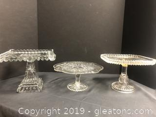 Lot Of Cake Stands Crystal