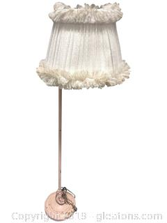 Floor Lamp Antique Iron Shabby Chic Shade