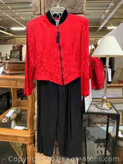 Jessica Howard Pant Suit Asian Inspired