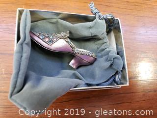 "Miniature Collectible Vintage Shoe ""Sweet Romance"""