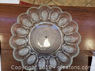 Vintage Indiana Glass Deviled Egg Relish Tray