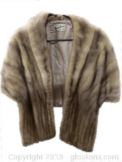 Large Silver Mink Stole By: Aabbe Furs Co. Hollywood, FL By: Sam Ratner