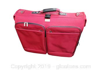 Red Ricardo Beverly Hills Hanging Suitcase/With Rollers Garment Bag