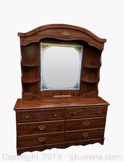 Like New Dresser With Mirror/Shelving