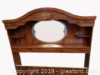 Queen Book Shelf/Decor Mirror Headboard Matching Other Pices