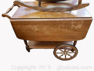 Ethan Allen Drop Leaf Tea Cart