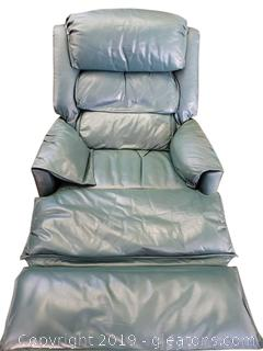 VIntage Leather Recliner Great Condition (Green)