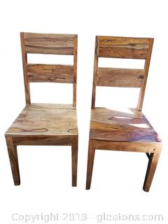 Modern Vintage Look Wooden Dining Chairs