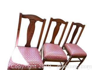 Set Of (3) Wooden Dining Wooden Chairs