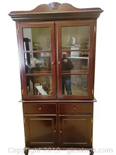 Coaster Dark Color Wood (2) Piece China Cabinet