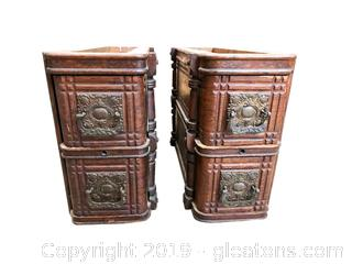 Set of 2 Antique Sewing Machine Drawers
