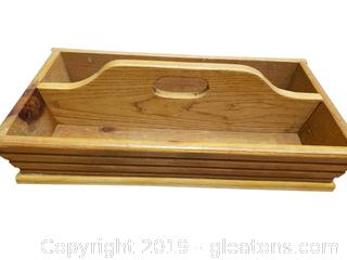 Vintage Wooden Portable Tray/Storage Container