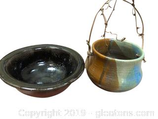 Set Of 2 Pottery Bowls