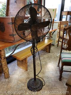 Deco Breeze Bronze Antique Color Floor Stand Pole Fan (3) Speed