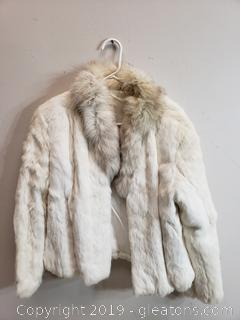 Rabbit Fur Coat Size Small