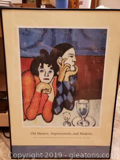Picasso Museum Poster Framed Print