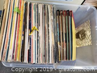 Box Lot Of Vintage Records
