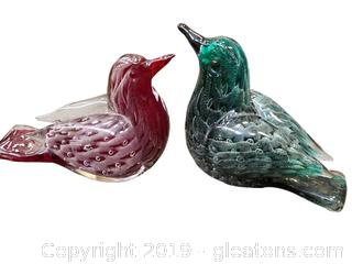 Blown Glass Stunning Birds