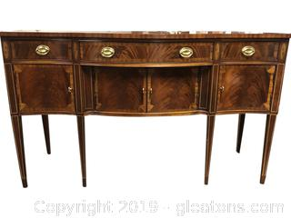 Gorgeous Hickory Serpentine Buffet Federal Style