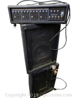 PR Of Johnson Speakers/And Johnson Amp/4 Channel Powered Mixer