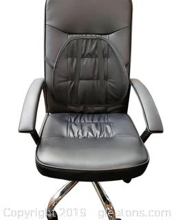 Nice Leather Armed With Back Support Office Chair/Black