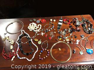 Vintage And like New Costume Jewelry And Watches