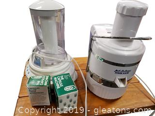 Jack Lalanne's Power Juicer And Vitalizer Plus Advanced Water Technology